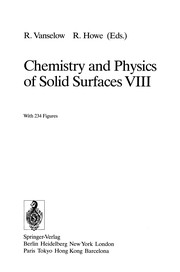 Cover of: Chemistry and Physics of Solid Surfaces VIII | Ralf Vanselow