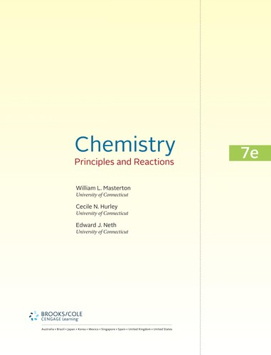 Chemistry by William L. Masterton