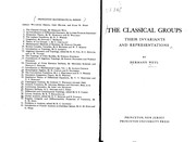 Cover of: The classical groups | Hermann Weyl