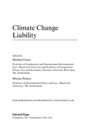 Cover of: Climate change liability | Michael Faure