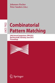 Cover of: Combinatorial Pattern Matching | Johannes Fischer
