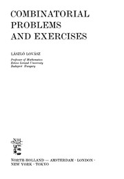 Cover of: Combinatorial problems and exercises