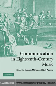 Cover of: Communication in eighteenth-century music