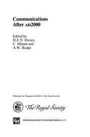 Cover of: Communications After ad2000 | D. E. N. Davies