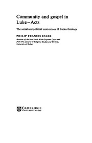 Cover of: Community and gospel in Luke-Acts | Philip Francis Esler