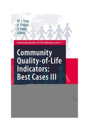 Cover of: Community Quality-of-Life Indicators: Best Cases III