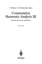 Commutative harmonic analysis III by Viktor Petrovich Khavin