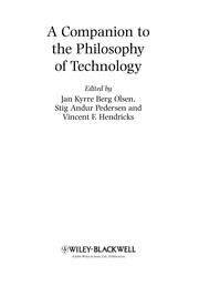Cover of: A companion to the philosophy of technology |