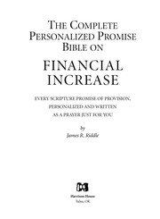 Cover of: The complete personalized promise Bible on financial increase | James R. Riddle