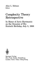 Cover of: Complexity Theory Retrospective | Alan L. Selman