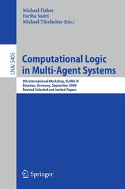 Cover of: Computational Logic in Multi-Agent Systems | Michael Fisher