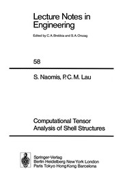 Cover of: Computational tensor analysis of shell structures | S. Naomis