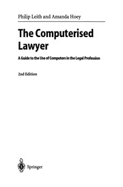Cover of: The Computerised Lawyer | Philip Leith