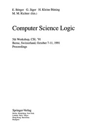 Cover of: Computer Science Logic: 5th Workshop, Csl