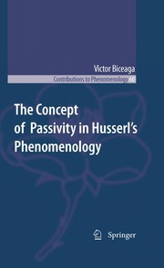 Cover of: The Concept of Passivity in Husserl