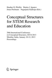 Cover of: Conceptual Structures for STEM Research and Education | Heather D. Pfeiffer