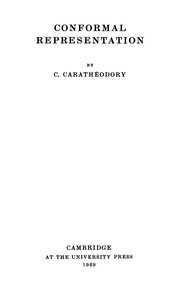 Cover of: Conformal Representation (Tracts in Mathematics) | Caratheodary