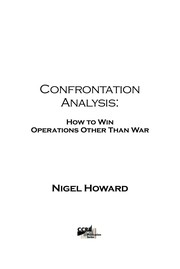 Cover of: Confrontation analysis | Nigel Howard