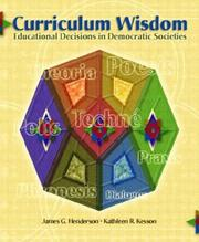 Cover of: Curriculum Wisdom | James G. Henderson