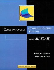 Cover of: Contemporary communication systems using MATLAB | John G. Proakis
