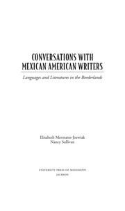 Cover of: Conversations with Mexican American writers |