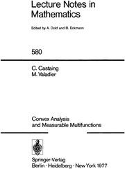 Cover of: Convex analysis and measurable multifunctions | Charles Castaing