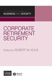 Cover of: Corporate retirement security |