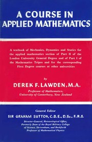 Cover of: A course in applied mathematics