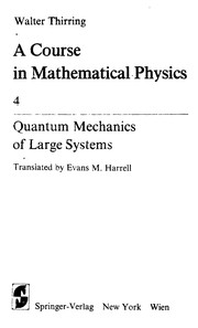 Cover of: Quantum mechanics of large systems