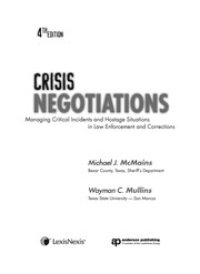 Cover of: Crisis negotiations | Michael J. McMains