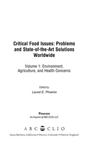 Cover of: Critical food issues |
