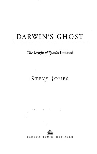 Darwin's ghost by Jones, Steve