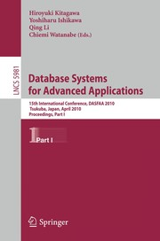 Cover of: Database Systems for Advanced Applications | H. Kitagawa