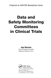 Cover of: Data and Safety Monitoring Committees in Clinical Trials | Jay Herson