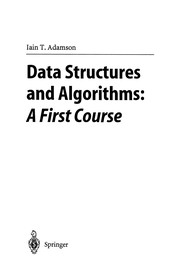 Cover of: Data Structures and Algorithms: A First Course