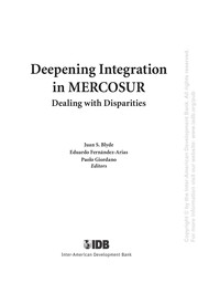 Cover of: Deepening integration in Mercosur