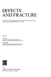Cover of: Defects and Fracture | G. C. Sih