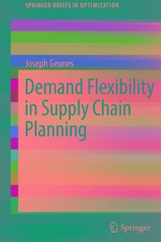 Cover of: Demand Flexibility in Supply Chain Planning | Joseph Geunes