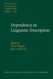 Cover of: Dependency in linguistic description