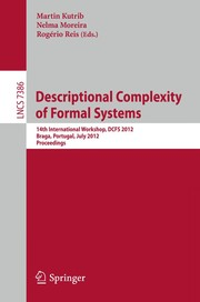 Cover of: Descriptional Complexity of Formal Systems | Martin Kutrib