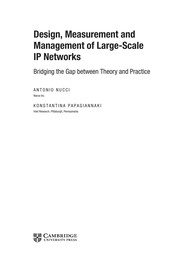 Cover of: Design, measurement and management of large-scale IP networks | Nucci, Antonio Ph.D.