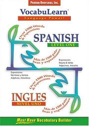 Cover of: Vocabulearn Spanish/English Level 1 (Vocabulearn Music-Enhanced)