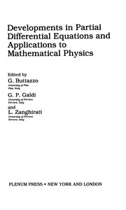 Cover of: Developments in partial differential equations and applications to mathematical physics