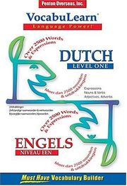 Cover of: Vocabulearn Dutch
