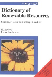Cover of: Dictionary of renewable resources |