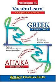 Cover of: Vocabulearn Greek