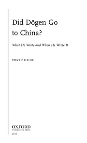 Cover of: Did Dōgen go to China? | Steven Heine