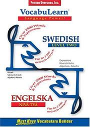Cover of: Vocabulearn Swedish/ Engelska