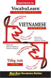 Cover of: Vocabulearn Vietnamese
