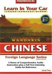 Cover of: Learn in Your Car Mandarin Chinese Level 2 (Learn in Your Car)